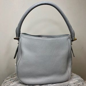 JCrew Light Blue Leather Bag